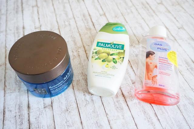 Rituals - Hammam Hot Scrub  Palmolive - Cremedusche  Das gesunde Plus - Medizinal Rheuma Bad