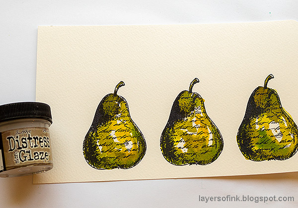 Layers of ink - Watercolor Pears Art Journal Page Tutorial by Anna-Karin Evaldsson.