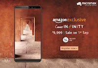 Micromax Canvas Infinity launched in India at ₹ 9,999
