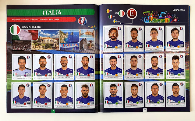 Figurine Italia panini Euro 2016