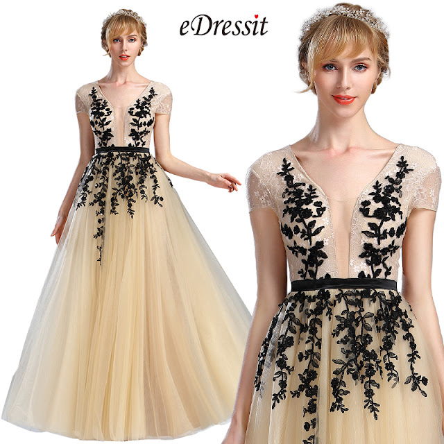 Beige Beaded Homecoming Long Lace Prom Dress