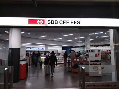 Membeli tiket kereta di Swiss