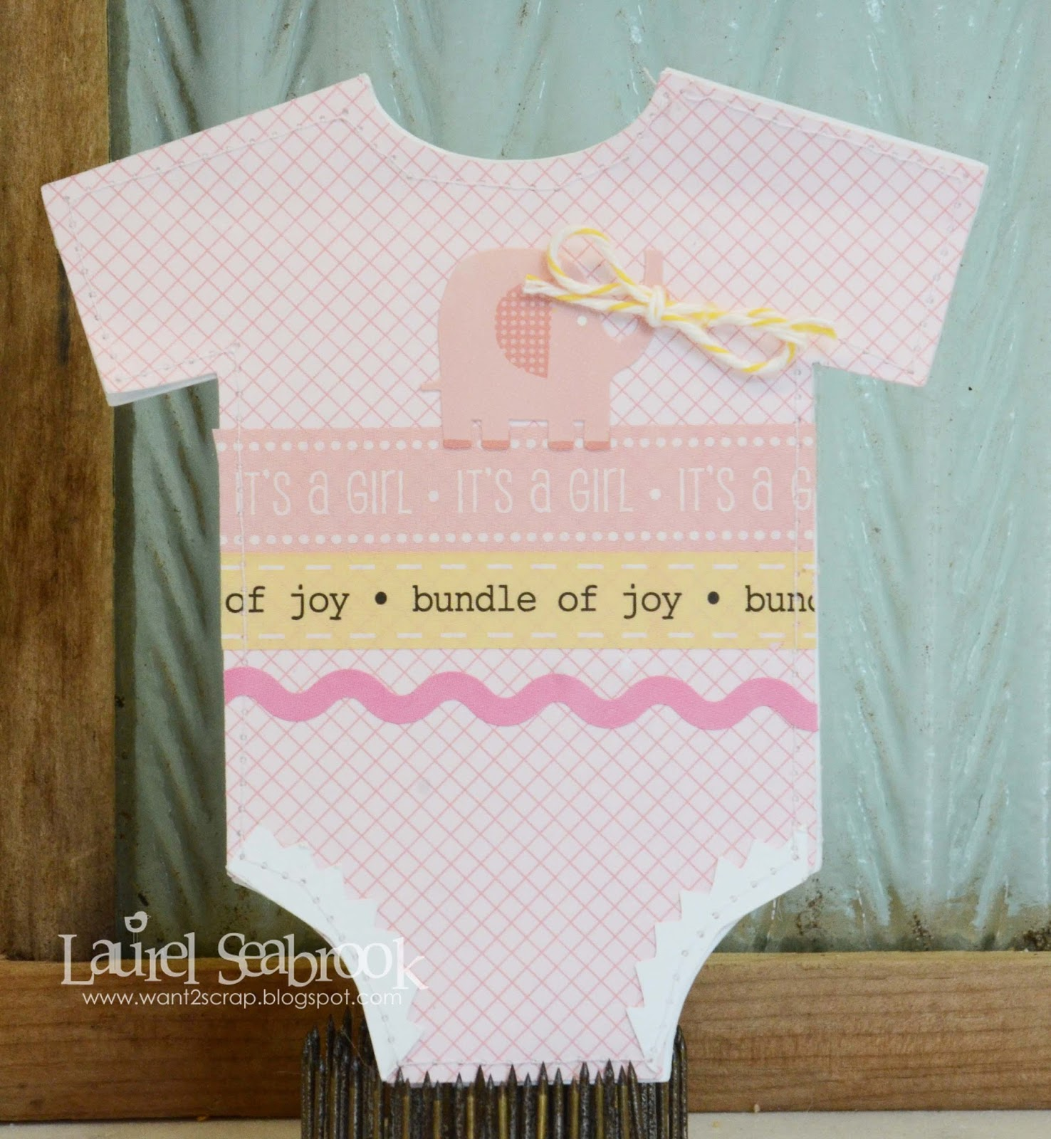 SRM Stickers Blog - Bundle of Joy Card by Laurel -#card #diecut #borders #stickers