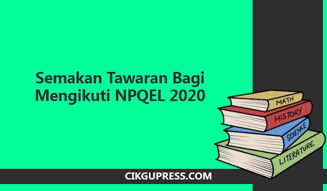 semakan npqel 2020