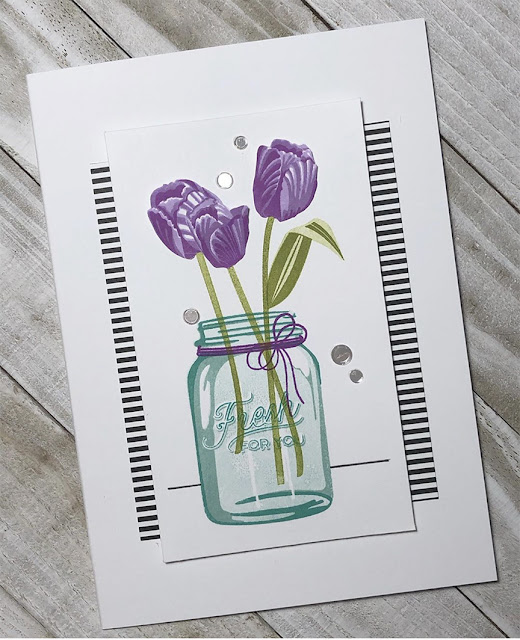 Sunny Studio Stamps: Timeless Tulips Customer Card by Linda