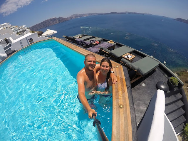 Swimming Pool Nostos Apartments Santorini