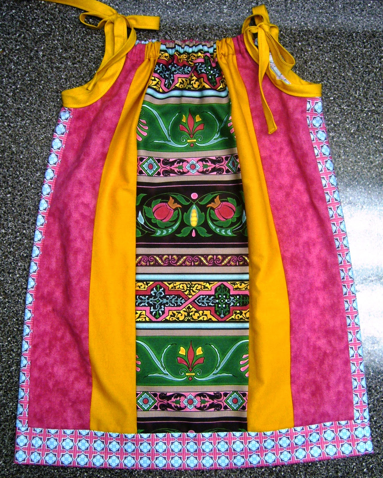 Patchwork Pillow Case Dress for Operation Christmas Child