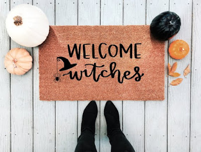 Welcome Witches Doormat by A Little Tinsel