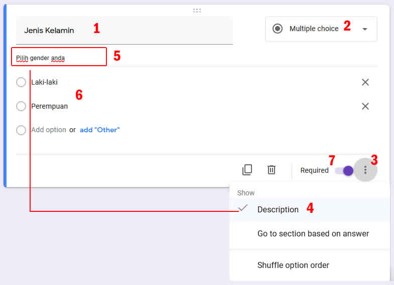 tipe soal multiple choice google form