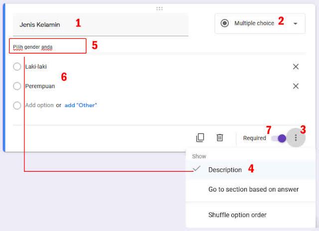 tipe soal multiple choice google form