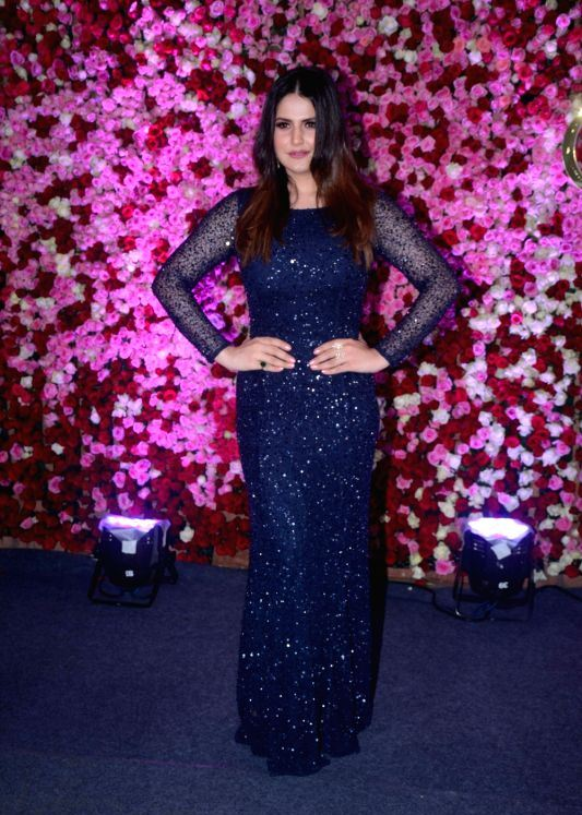 Indian Actress Zareen Khan At Lux Golden Rose Awards 2017