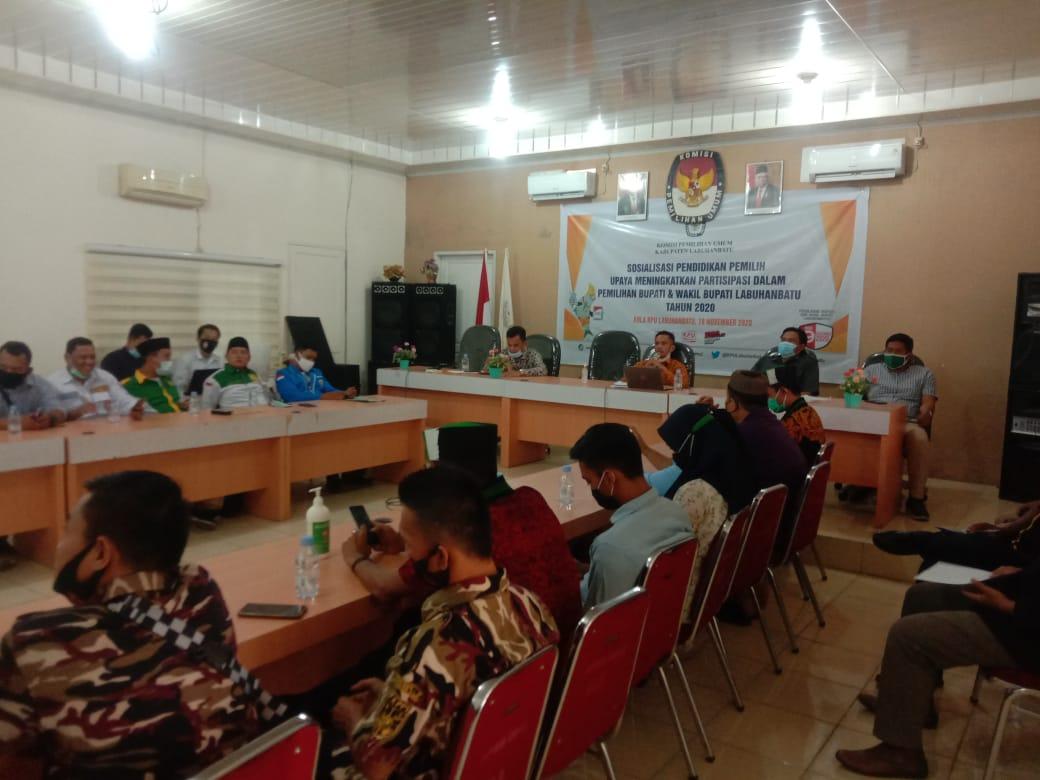 KPUD Labuhanbatu Menggelar Rapat Koordinasi Sosialisasi Pendidikan Pemilih dan Partisipasi Masyarakat