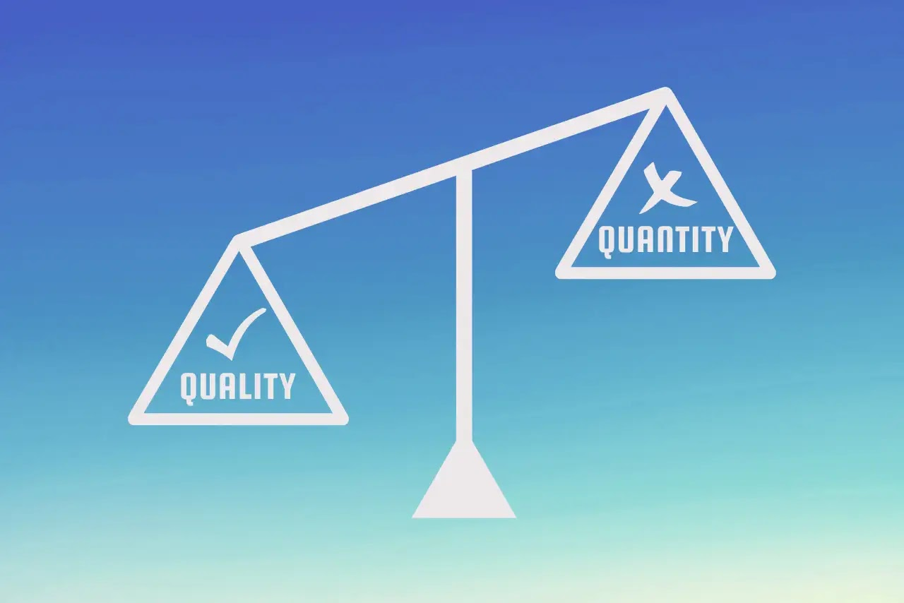 Focusing on the Quantity of Content not Quality
