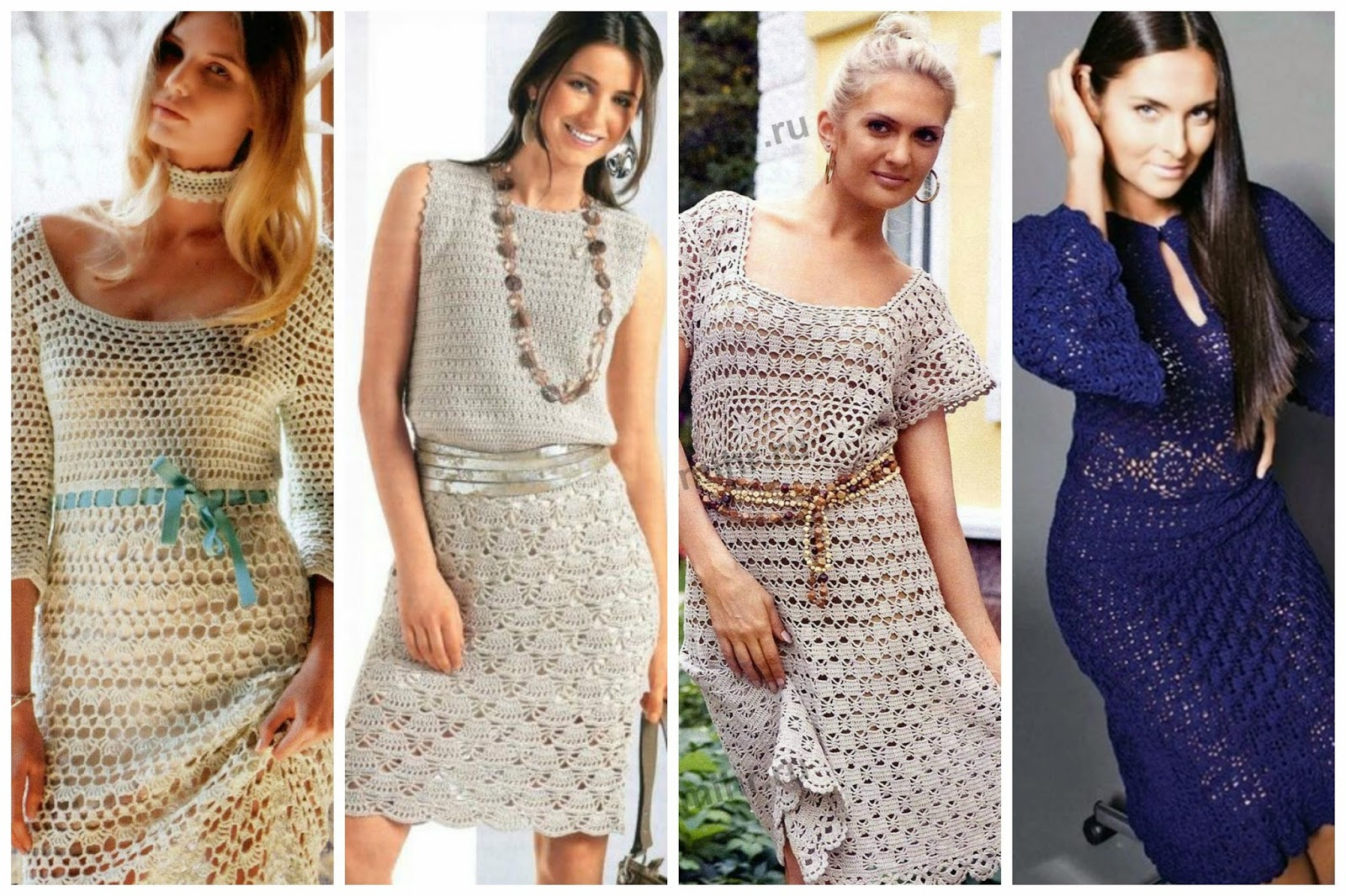 Little treasures 15 crochet dresses free patterns and charts dt1010fo