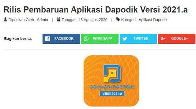 Cara Install Download Registrasi Login Aplikasi Dapodik 2021.a Terbaru Update 18 Agustus 2020