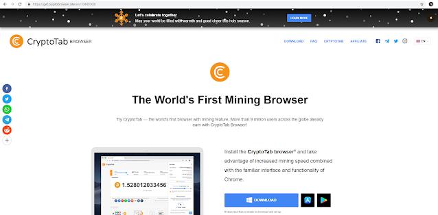 Cryptotab là gì ? Trình duyệt trả tiền cho người dùng bằng Bitcoin