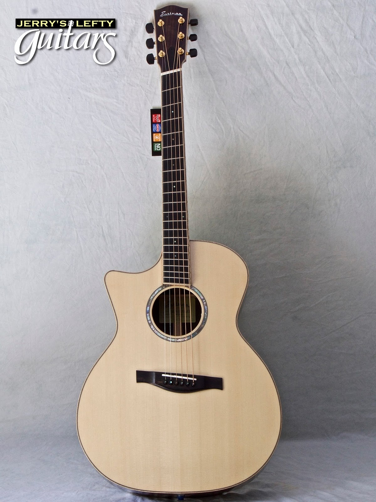 jerry 39 s lefty guitars newest guitar arrivals updated weekly eastman ac822ce ff fan fret left. Black Bedroom Furniture Sets. Home Design Ideas