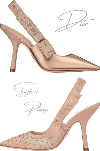 Nude Dior slingback pumps #brilliantluxury