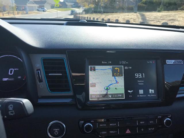 Infotainment display in 2019 Kia Niro EV EX Premium