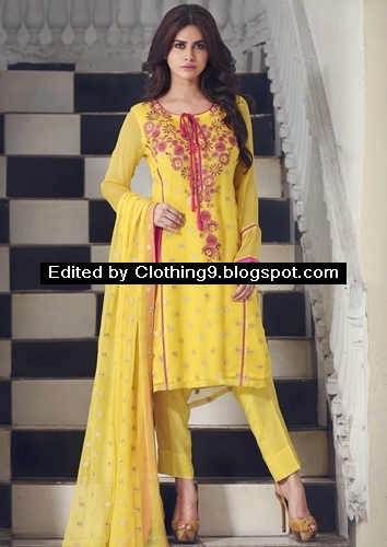 Gulaal Embroidered Chinese Chiffon Suits