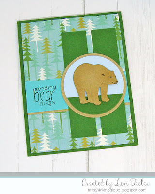 Sending Bear Hugs card-designed by Lori Tecler/Inking Aloud-stamps and dies from Altenew