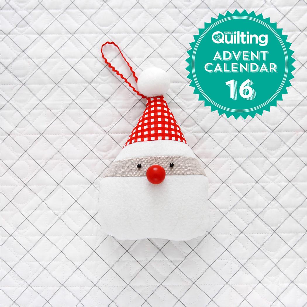Pen Paper Patterns Santa Ornament Tutorial