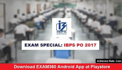 EXAM SPECIAL: IBPS PO Study Materials 2017 - 2018