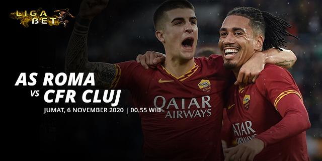 PREDIKSI PARLAY AS ROMA VS CFR CLUJ JUMAT 6 NOVEMBER 2020