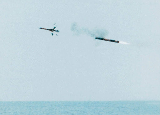 Misil Exocet SM39 lanzado desde un submarino