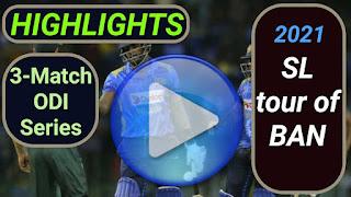 Bangladesh vs Sri Lanka ODI Series 2021