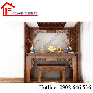 www.123nhanh.com: Mẫu bàn thờ treo đẹp dành cho nơi thờ cúng.