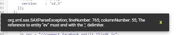 errore codice pixel su blogger