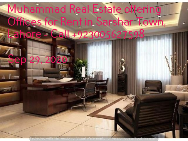 Muhammad Real Estate offering Offices for Rent in Sarshar Town