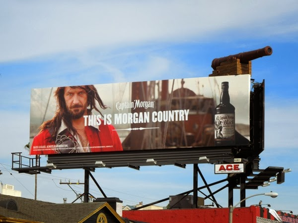 Morgan Country Captain Morgan Rum cannon billboard