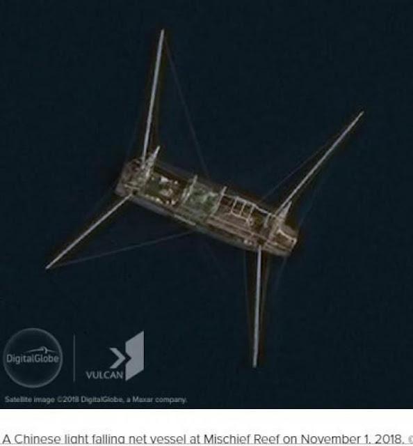 Ảnh vệ tinh cho thấy Trung Quốc gia tăng đánh bắt ở Biển Đông