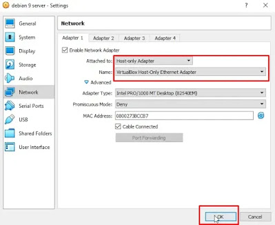 Host Only VirtualBox