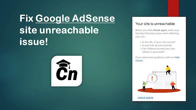 image for fix Google AdSense site unreachable issue