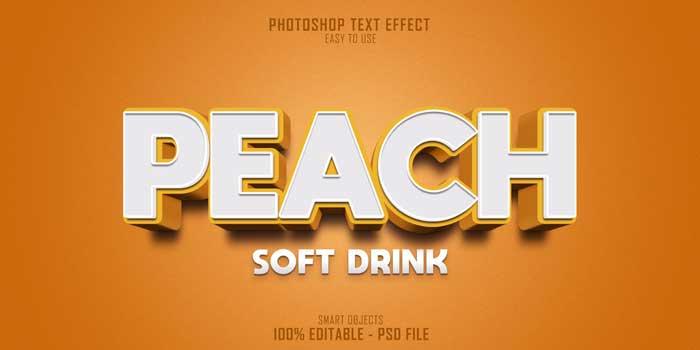 Peach Soft Drink PSD Template