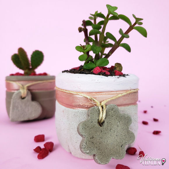 Diy vasinho de cimento - valdirene oliveira