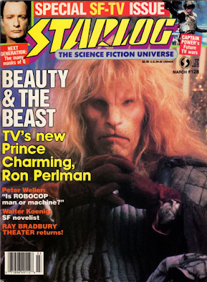 Starlog magazine #128 cover with Ron Perlman