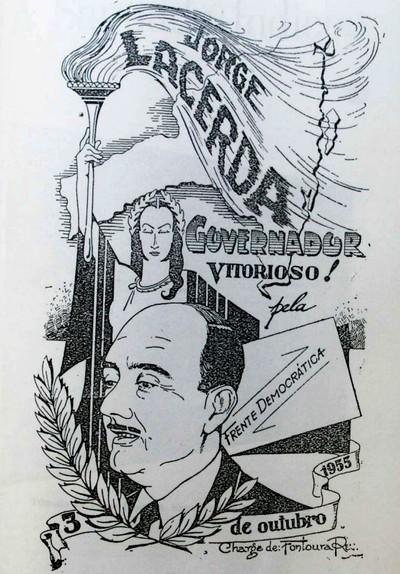 Campanha política de Jorge Lacerda para governador de Santa Catarina em 1955