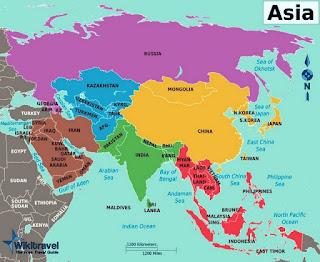 letak, batas wilayah, kepulauan, daratan benua asia
