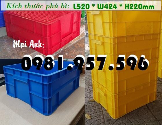 Hộp nhựa B8, hộp nhựa dung tích 40L, hộp công nghiệp có nắp
