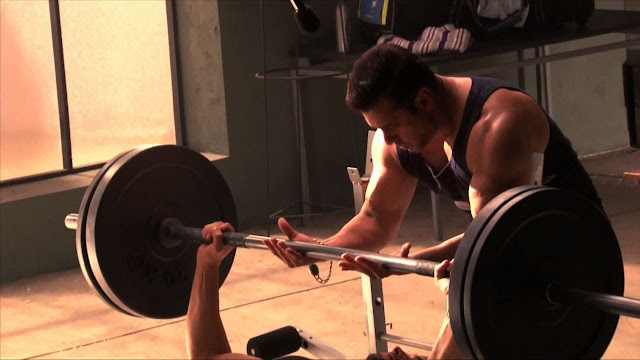 salman khan in the gym