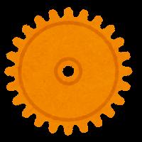 ギアのイラスト(オレンジ)