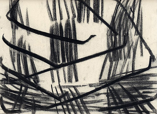 Ronald Noorman Untitled, 2006  charcoal on paper 22.6 x 30 cm