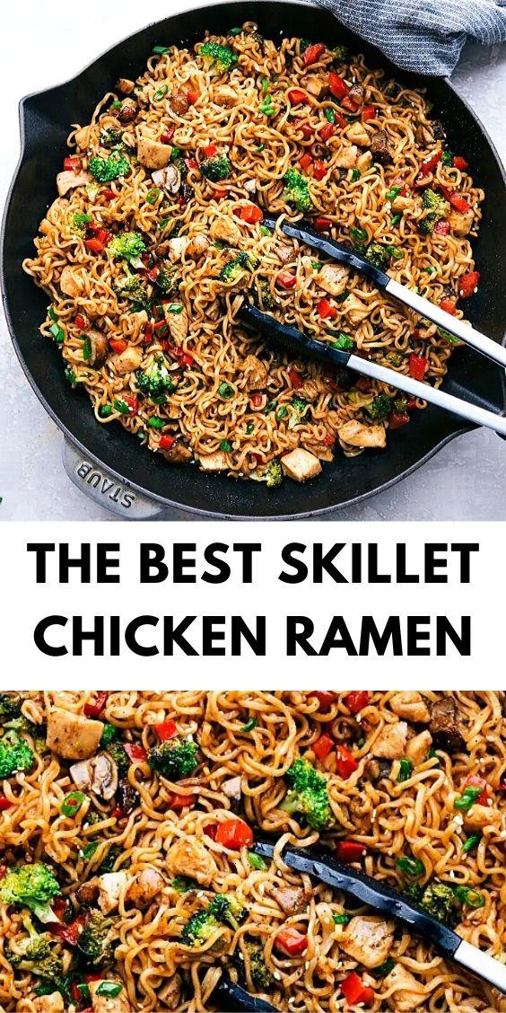 The Best Skillet Chicken Ramen