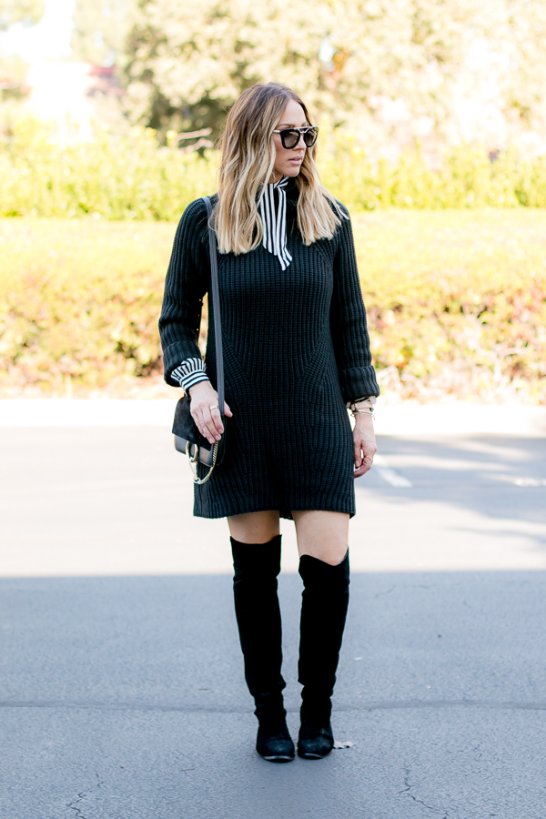 cold weather staple sweater dress