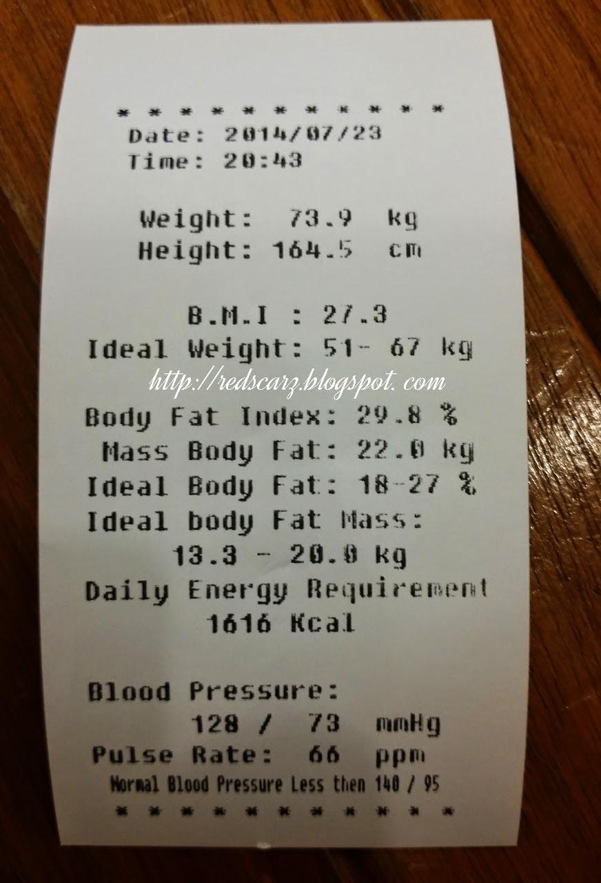 Tinggi dan berat badan rata-rata orang sehat