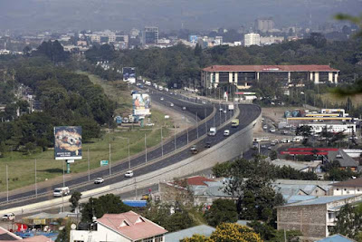 Nakuru town aerial image